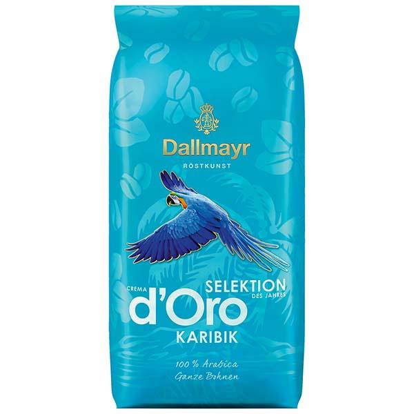 Кофе в зернах Dallmayr Crema d`Oro Selektion зерно 1000g синего цвета