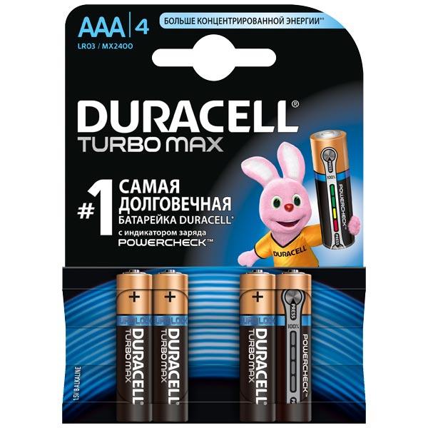 Батарея Duracell Turbo Max AAA 4шт.
