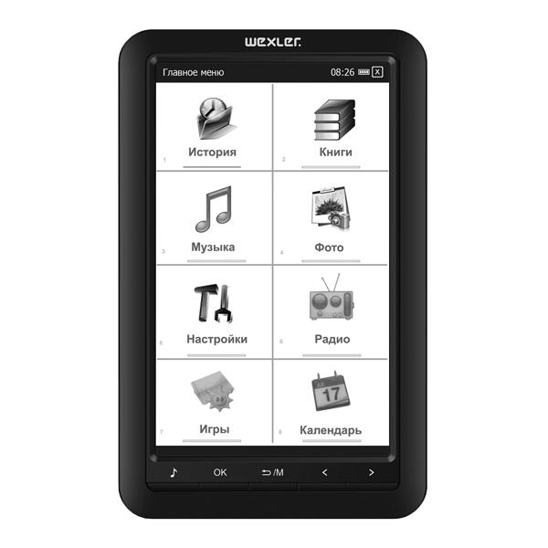 3cb545ae601c Купить Электронная Книга Wexler Book E7001B Black в каталоге ...