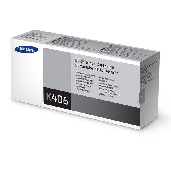 Картридж для лазерного принтера Samsung CLT-K406S/SEE картридж samsung clt c504s see голубой