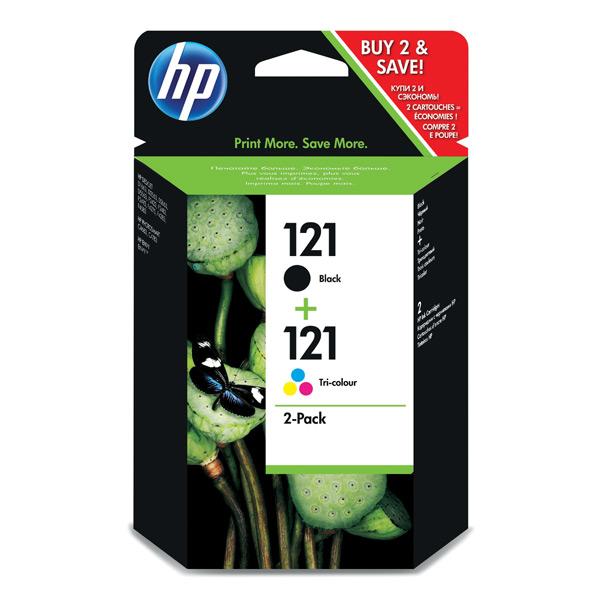 Картридж для струйного принтера HP 121 Black/Tri-color CN637HE картридж hp 17 c6625a tri color для dj 840c