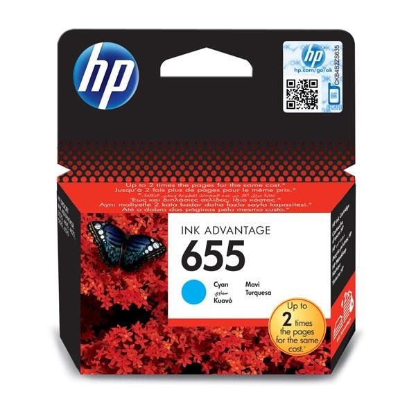 Картридж для струйного принтера HP 655 CZ110AE Cyan