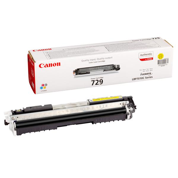 Картридж для лазерного принтера Canon 729 Y Yellow картридж для принтера canon 731 yellow