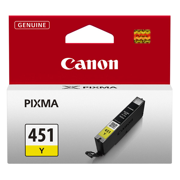 Картридж для струйного принтера Canon CLI-451 Y картридж canon cli 42lgy для pro 100 серый 835 фотографий