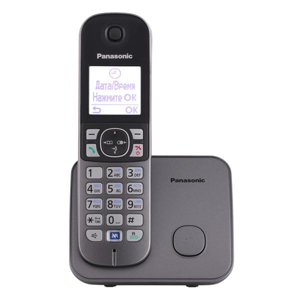 Телефон DECT Panasonic KX-TG6811RUM белого цвета