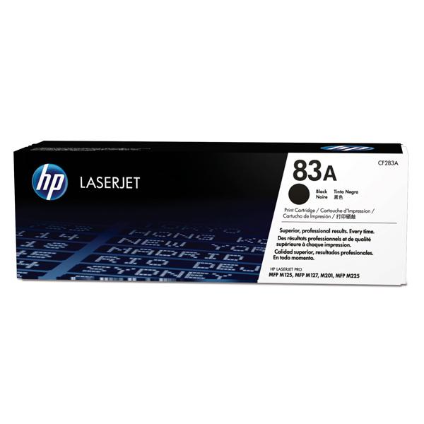 Картридж для лазерного принтера HP 83A LaserJet, черный CF283A картридж для лазерного принтера hp 33a cf233a