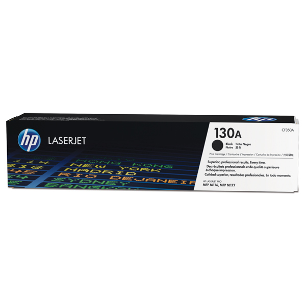 Картридж для лазерного принтера HP 130A LaserJet, черный CF350A 4x non oem toner refill kit chips compatible for hp 130a 130 cf350a cf353a color laserjet pro mfp m176 m176n m177 m177fw