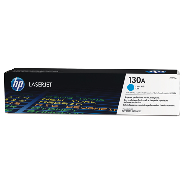 Картридж для лазерного принтера HP 130A LaserJet, синий CF351A lcl 130a cf350a cf351a cf352a cf353a 5 pack compatible laser toner cartridge for hp color laserjet pro mfp m176n m177fw
