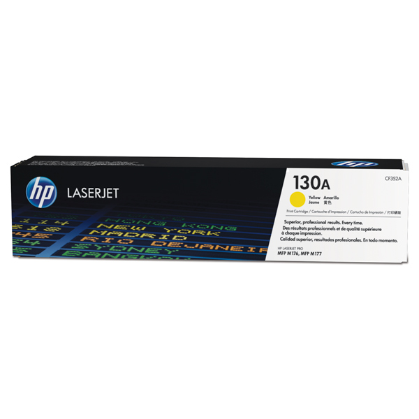 Картридж для лазерного принтера HP 130A LaserJet, желтый CF352A lcl 130a cf350a cf351a cf352a cf353a 5 pack compatible laser toner cartridge for hp color laserjet pro mfp m176n m177fw