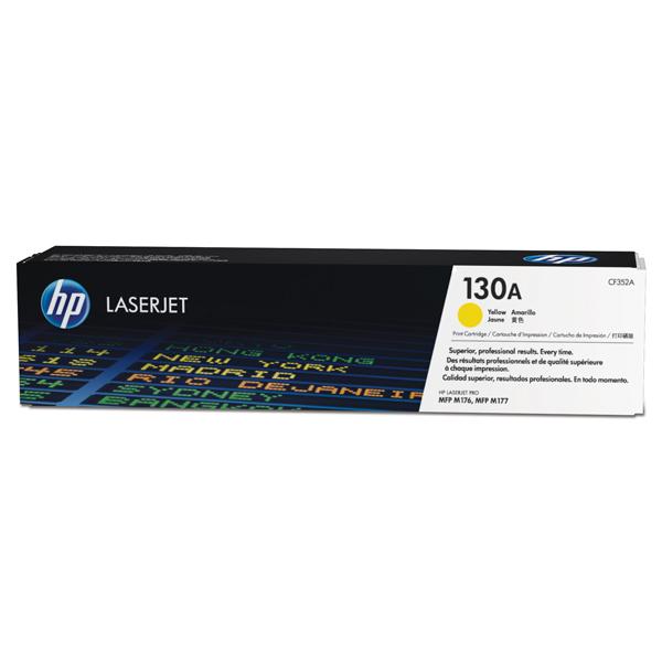 Картридж для лазерного принтера HP 130A LaserJet, желтый CF352A картридж для лазерного принтера hp 33a cf233a