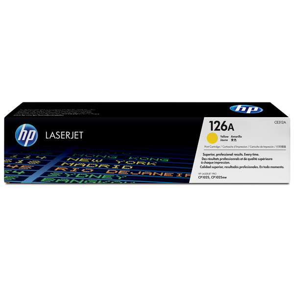 Картридж для лазерного принтера HP 126ALaserJet, желтый CE312A картридж для лазерного принтера hp 33a cf233a