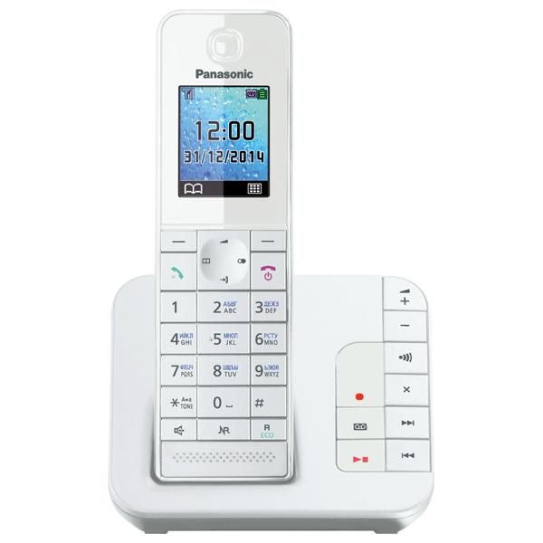 Телефон DECT Panasonic KX-TGH220RUW panasonic kx tgh210 ruw white dect телефон