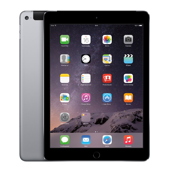 Планшет Apple iPad Air 2 16GB Wi-Fi+Cellular Space Gray (MGGX2)