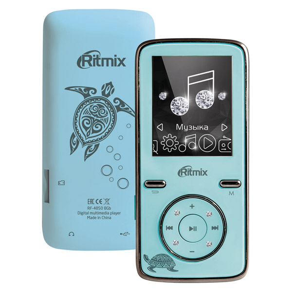 Портативный медиаплеер Ritmix RF-4850 8Gb Sky Blue ritmix ritmix rf 7200 фиолетовый 4гб