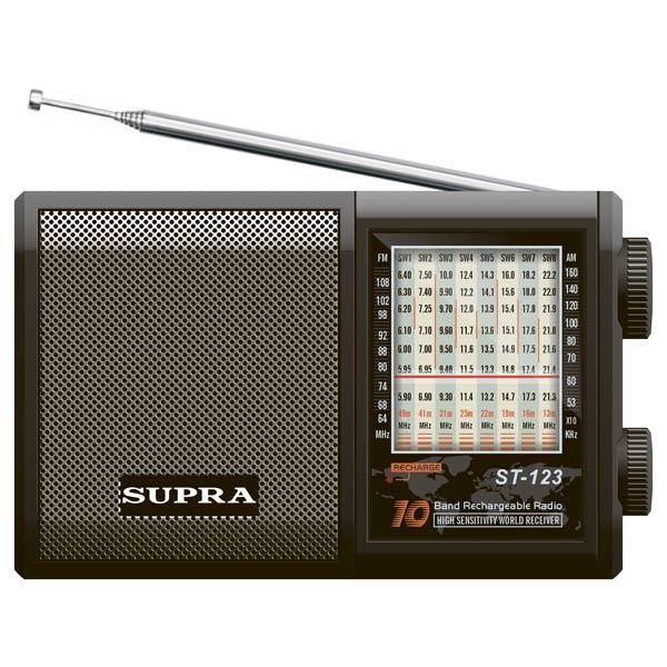 Радиоприемник Supra ST-123 радиоприемник дв св укв