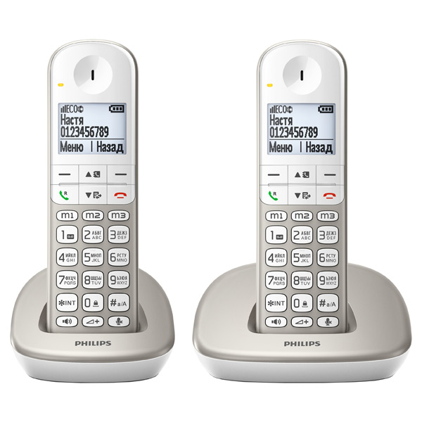Телефон DECT Philips XL4902S/51 домашний телефон с двумя трубками