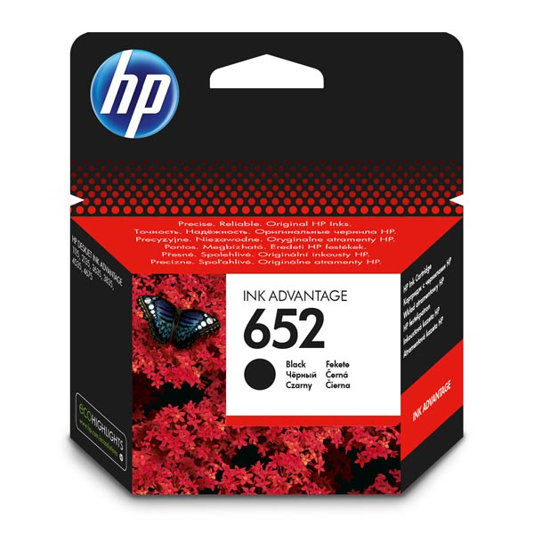 Картридж для струйного принтера HP F6V25AE BHK (№652) картридж hp f6v25ae bhk для deskjet ink advantage 1115 2135 3635 чёрный 360 страниц hp 652