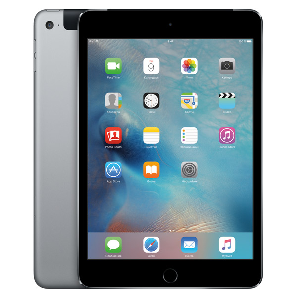 Планшет Apple iPad mini 4 Wi-Fi+Cellular 128GB Space Gray MK762