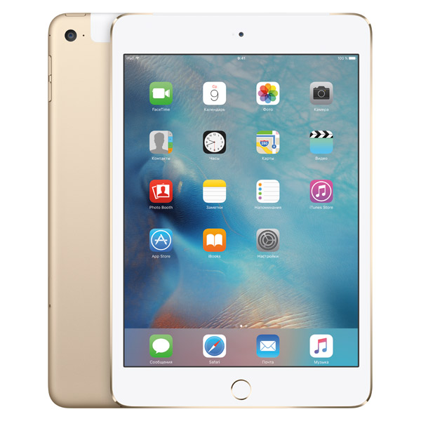 Планшет Apple iPad mini 4 Wi-Fi Cellular 128GB Gold (MK782RU/A)
