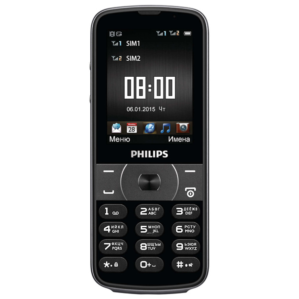 Мобильный телефон Philips Xenium E560 Black philips philips xenium e160 black