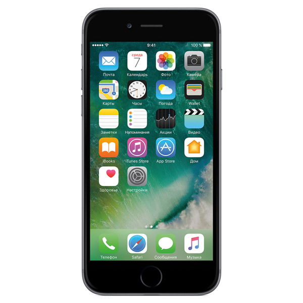 Смартфон Apple iPhone 6s 128GB Space Gray (MKQT2RU/A) смартфон apple iphone 6s 16gb space gray mkqj2ru a