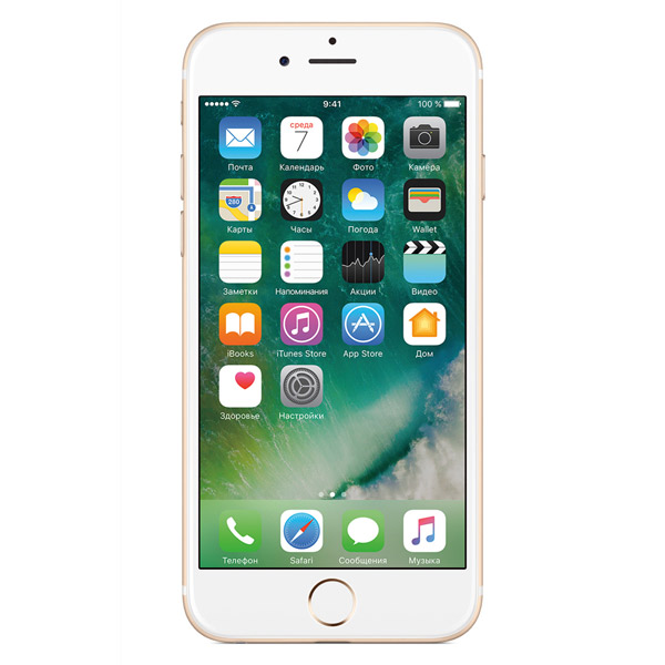 Apple, Смартфон, iPhone 6s 128GB Gold (MKQV2RU/A)