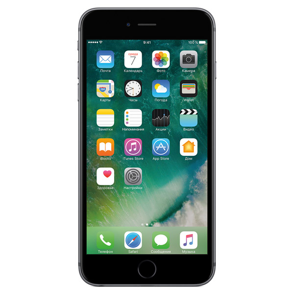 Смартфон Apple iPhone 6s Plus 128GB Space Gray (MKUD2RU/A) смартфон apple iphone 6s 16gb space gray mkqj2ru a