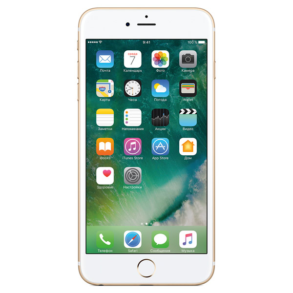 Смартфон Apple iPhone 6s Plus 128GB Gold (MKUF2RU/A) iphone 4g в челябинске