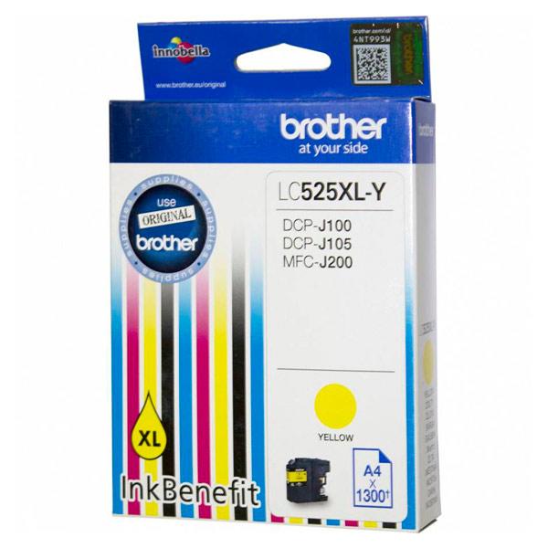 Картридж для струйного принтера Brother LC525XL-Y