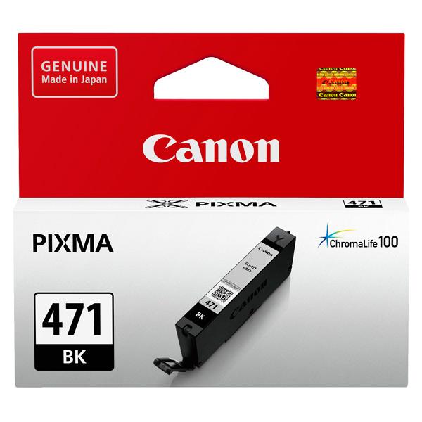 Картридж для струйного принтера Canon CLI-471 BK картридж canon cli 42lgy для pro 100 серый 835 фотографий