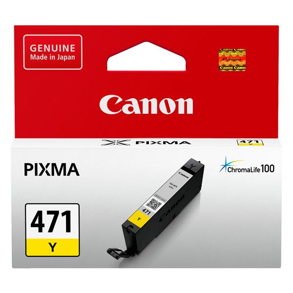 Картридж для струйного принтера Canon CLI-471 Y картридж для струйного принтера canon cli 471 multipack c m y bk