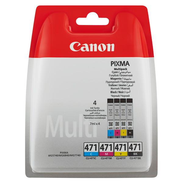 Картридж для струйного принтера Canon CLI-471 Multipack (C/M/Y/BK) набор картриджей canon cli 451 c m y bk