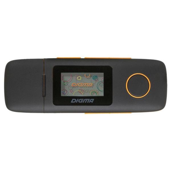 Портативный медиаплеер Digma — U3 4Gb Black/Orange