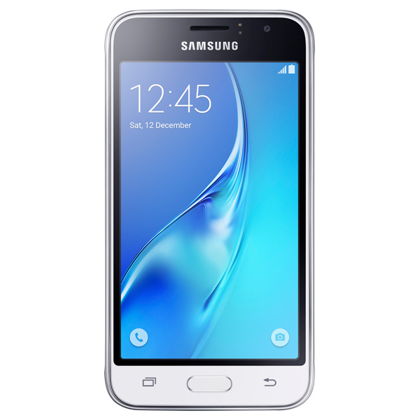 Смартфон Samsung Galaxy J1 (2016) White (SM-J120F) чехол для samsung galaxy j1 2016 sm j120f ds celly gelskin прозрачный