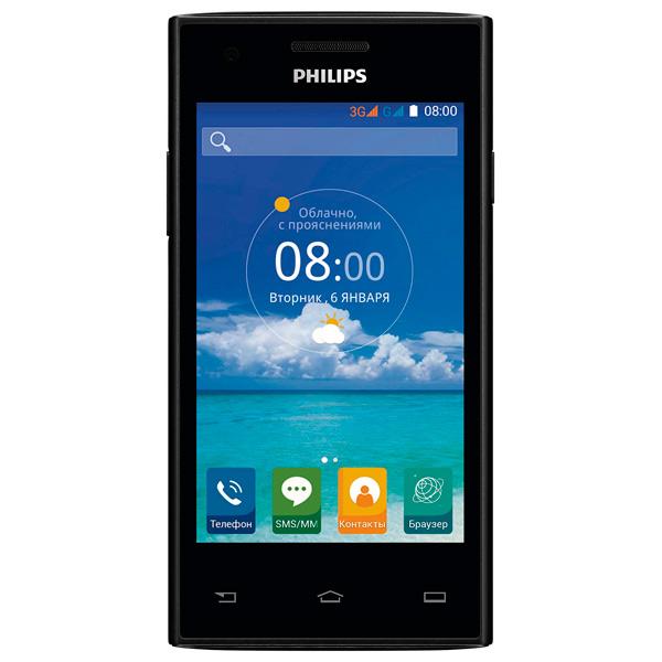 Смартфон Philips S309 8Gb+1 Black мобильный телефон philips s 309 черный
