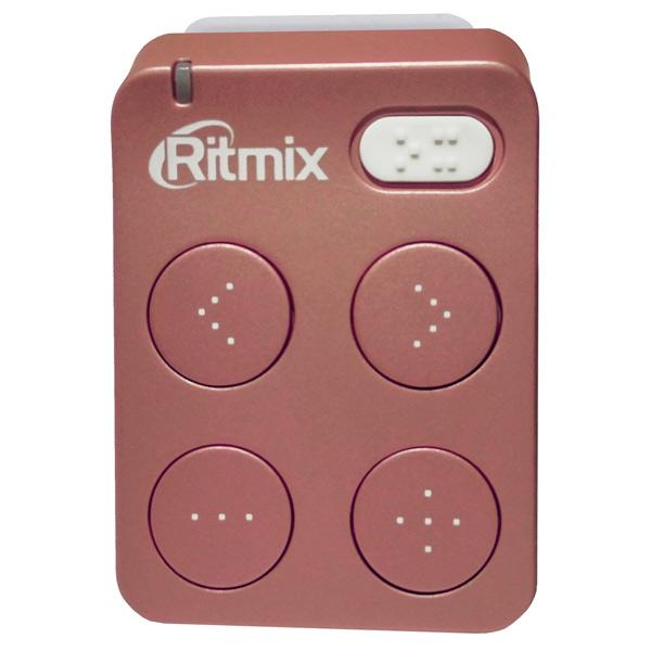 Портативный медиаплеер Ritmix RF-2500 8Gb Rose ritmix ritmix rf 7200 фиолетовый 4гб