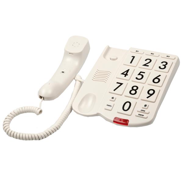 Фото Телефон проводной Ritmix RT-520 Ivory телефон ritmix rt 003 черный