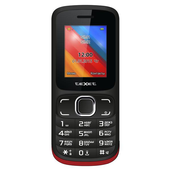 Мобильный телефон teXet TM-125 Black Red мобильный телефон texet tm 125 black red
