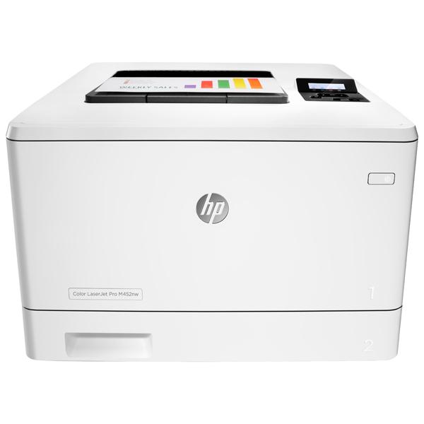 Лазерный принтер (цветной) HP Color LaserJet Pro M452nw (CF388A) принтер hp color laserjet pro cp1025nw лазерный цвет белый [ce918a]