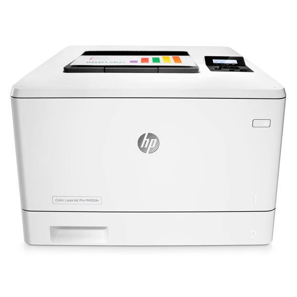 Лазерный принтер (цветной) HP Color LaserJet Pro M452dn (CF389A) принтер hp color laserjet pro cp1025nw лазерный цвет белый [ce918a]