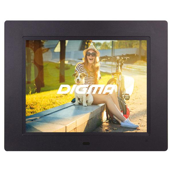 Цифровая фоторамка Digma PF-833 Black планшет digma plane 1601 3g ps1060mg black