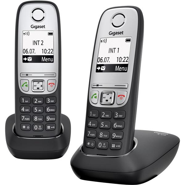 Телефон DECT Gigaset A415 DUO RUS gigaset a415 trio black