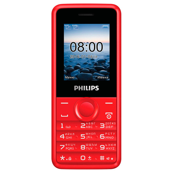 все цены на Мобильный телефон Philips Xenium E103 Red онлайн
