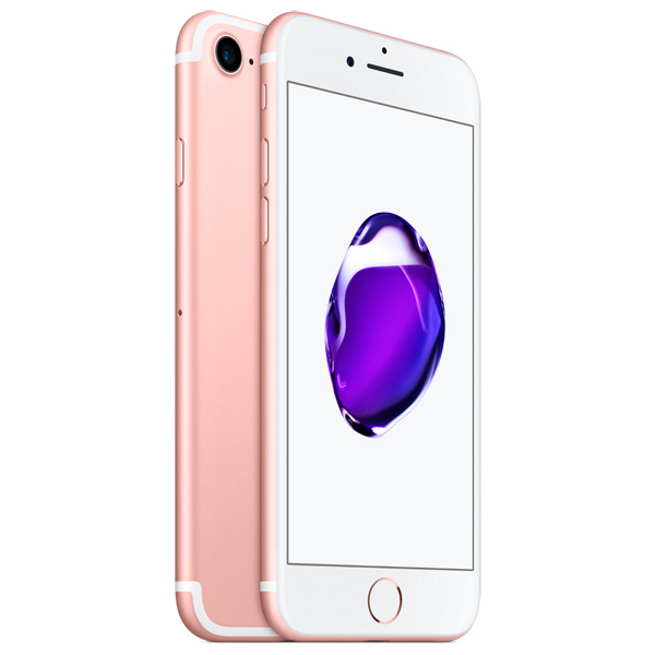 Смартфон Apple iPhone 7 128Gb Rose Gold (MN952RU/A) док станция для iphone apple lightning dock ml8l2zm a rose gold