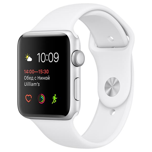 Смарт-часы Apple Watch S1 Sport 38mm Silver Al/White (MNNG2RU/A) умные часы apple watch series 3 38mm grey space with black sport band mqkv2ru a