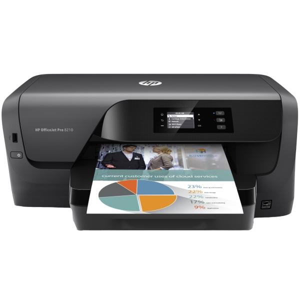 Струйный принтер HP OfficeJet Pro 8210 hp officejet pro 8210 принтер струйный d9l63a