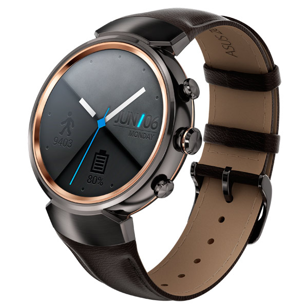 Смарт-часы ASUS ZenWatch 3 WI503Q Leather Strap Dark Brown