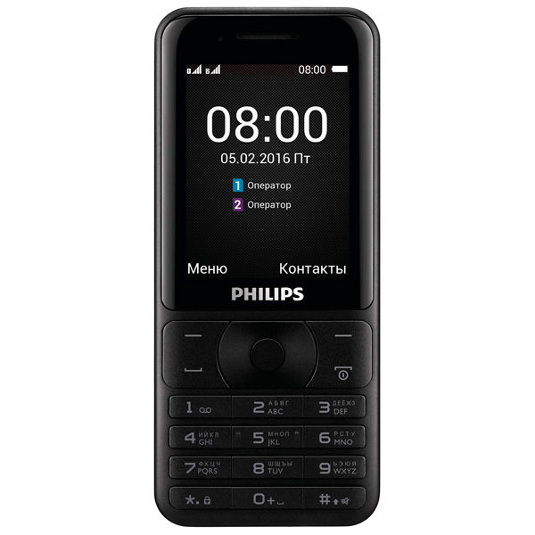 Мобильный телефон Philips Xenium E181 Black мобильный телефон philips e181 xenium черный e181