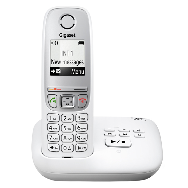 Телефон DECT Gigaset A415A White gigaset a415a duo black