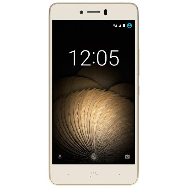 Смартфон BQ U Plus 4G 16Gb/2Gb White/Gold (C000235) мобильный телефон lg g flex 2 h959 5 5 13 32 gb 2 gb gps wcdma wifi
